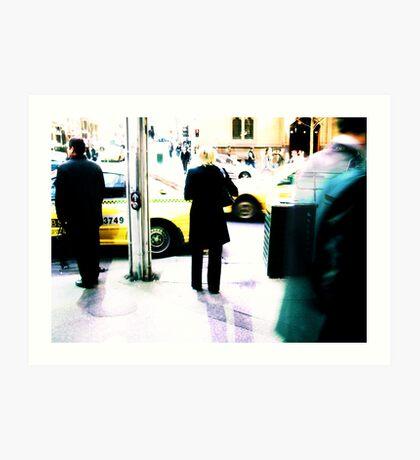 Yellow Cabs 3749 Art Print