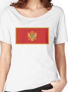 flag of Montenegro Women's Relaxed Fit T-Shirt