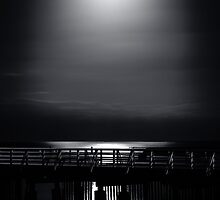 Full Moon Over Bramble Bay by Silken Photography