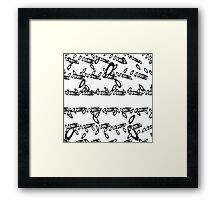 Matrix reloaded in black... Framed Print