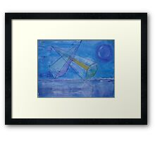 triangles in the sky Framed Print