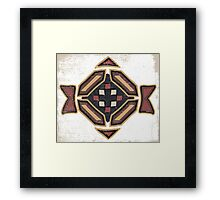 Cool Abstract Enchanting Shapes and Colors Framed Print