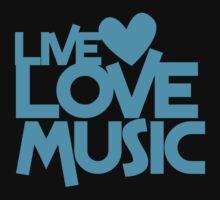 LIVE LOVE MUSIC Kids Tee