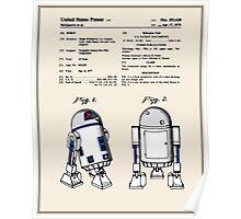 R2D2 Patent - Colour Poster