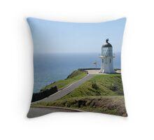 Northern Lighthouse Throw Pillow