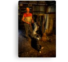 The Shearer. Canvas Print