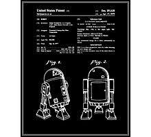 Star Wars R2D2 Patent - Black Photographic Print