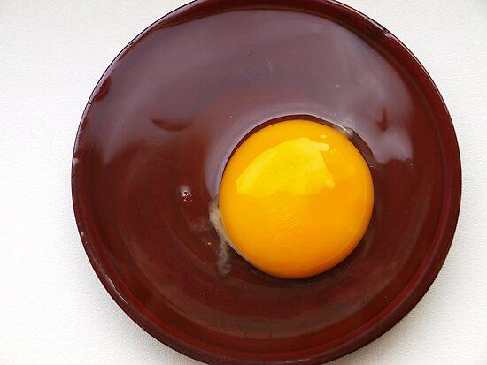 fried chocolate egg:) by Nadia Fedotenkova