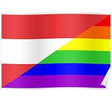 gay flag austria Poster