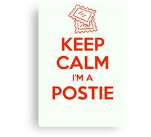 KEEP CALM, I'M A POSTIE Canvas Print