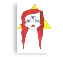 Triangle Girl Canvas Print