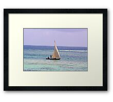 Sailing along the Swahili Coast Framed Print