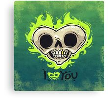 Burning Dead Heart Loves You Canvas Print