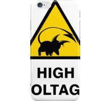 Raichu high voltage pokemon 3 iPhone Case/Skin