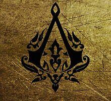 Creed Assassins Grunge Logo by davinciart