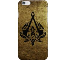 Creed Assassins Grunge Logo iPhone Case/Skin