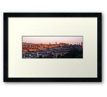 Rooftops of Edinburgh Framed Print