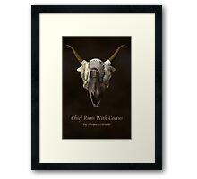 Chief Runs With Catcus Framed Print