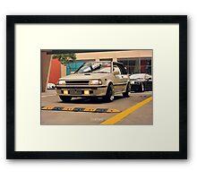 Toyota Starlet Framed Print