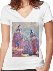 St. Mary's Catholic Church Women's Fitted V-Neck T-Shirt