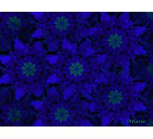 Blue Pinwheel Abstract Photographic Print