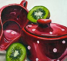 Kiwi and Kitchenware by Julia Kapp