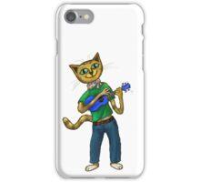 Cat On A Uke - ukulele-playing cat iPhone Case/Skin