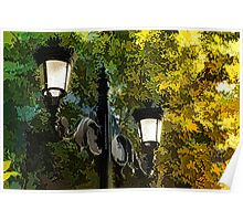 Sweet, Old-Fashioned Streetlights - Impressions of Fall Poster