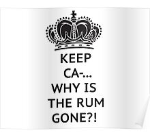 The rum is gone, WHY?! Poster