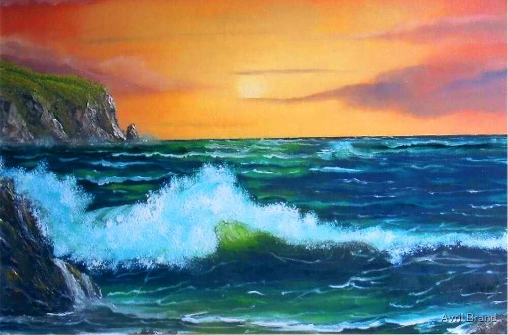 """""""Cliffs of Clare"""" by Avril Brand"""