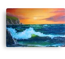 """Cliffs of Clare"" Canvas Print"
