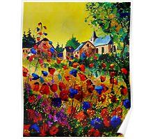 poppies in sosoye belgium Poster