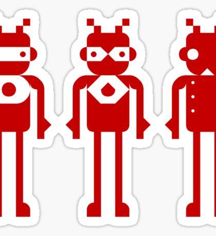 tHREE rED rOBOTS Sticker