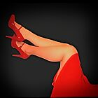 Red MaryJanes Pinup by PeggySue67
