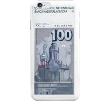 100 Old Swiss Francs Note - Back iPhone Case/Skin