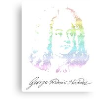Handel Text Canvas Print
