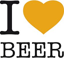 I ♥ BEER Photographic Print