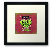 Love Sick Framed Print