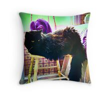Blackie's Chair Throw Pillow