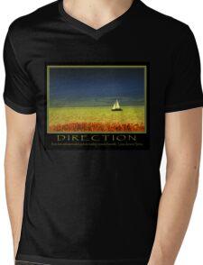 Direction Mens V-Neck T-Shirt