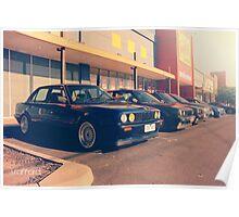BMW E30 Line Poster