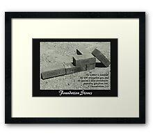 Foundation Stones Framed Print