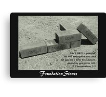 Foundation Stones Canvas Print