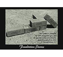 Foundation Stones Photographic Print