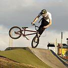whip-lash on the ol bmx by Brodyn  Beveridge