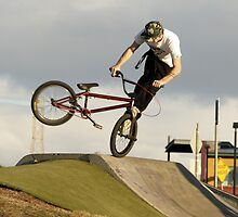 whip-lash on the ol bmx by Brodyn  Beveridge