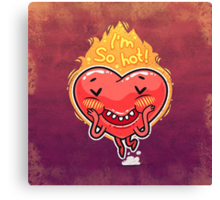 Cute Burning Heart for Valentine's Day Canvas Print