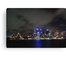 Sydney Harbour night Canvas Print