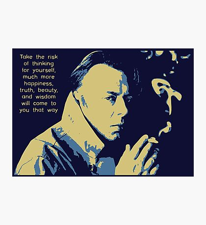 Christopher Hitchens Quote Photographic Print