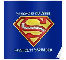 Woman of Steel - Scoliosis Awareness Poster